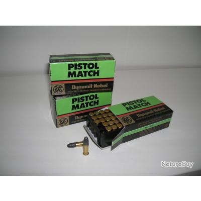 Quelle différence entre le .22 LR et 22 Pistol ? __00002_munitions-22LR-Pistol-match-Dynamit-Nobel